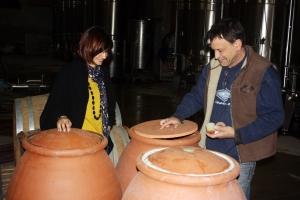 cave croix gratiot élevage vin dans jarres en terres cuites